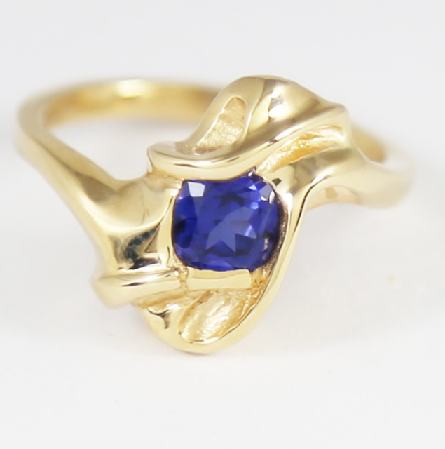 Blue Sapphire in 14K Ring