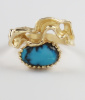 Bisbee Turquoise in 14K Ring